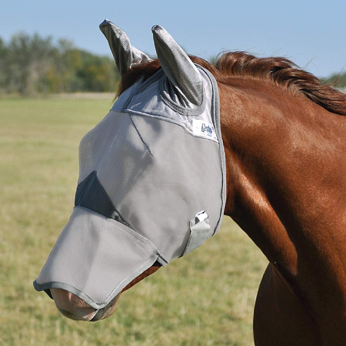 Details about  /C-MWBL Warmblood Cashel Comfort Crusader Fly Mask W// Long Nose Grey
