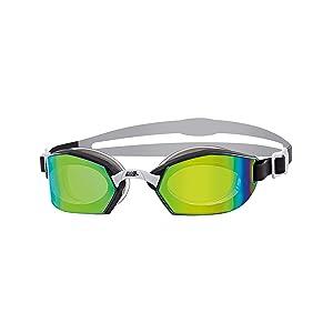 Zoggs Ultima Air Titanium Swimming Goggles, Unisex, Black / Gray / Titanium, One Size