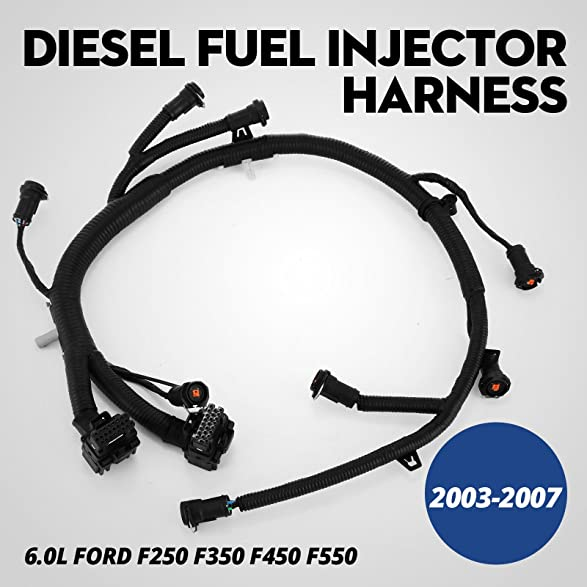 710XGnMpX1L._SY587_ amazon com mophorn fuel injector harnness 5c3z 9d930 a ficm fuel 2003 ford f250 fuel injector wiring harness at crackthecode.co