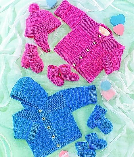 Amazon Uk Hand Knit Association Baby Cardigan Jacket Hat