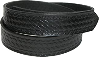 product image for Boston Leather Men's Big & Tall Leather Basketweave Hook and Loop Mechanics Belt