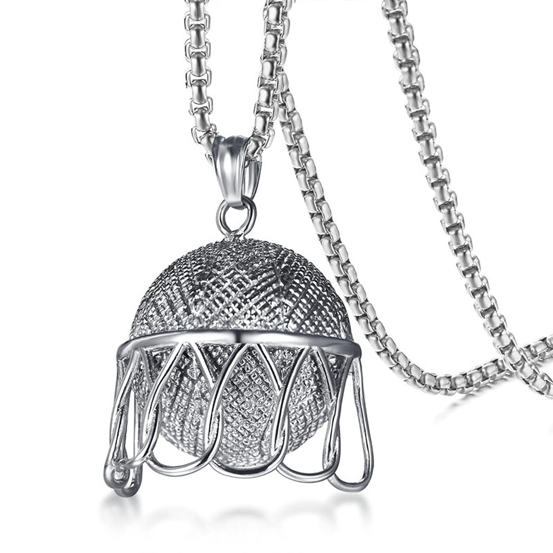 Aienid Collares Pendientes Titanio Collar para Hombres Baloncesto ...