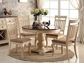Amazon.com - PAC Furniture New 5PC Antique White Wash Cherry ...