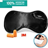 Sleep Mask Sleeping Mask Eye Mask for Sleeping & Sleep Mask for Men,Women or Girls. A Quality BLACK Satin Travel Mask and Natural Rest Aid for Sleep Disorders, Snoring & Insomnia
