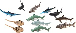 Fun Central 24 Pieces - Baby Shark Figure Toys for Toddlers, Boys & Girls - Assorted Styles