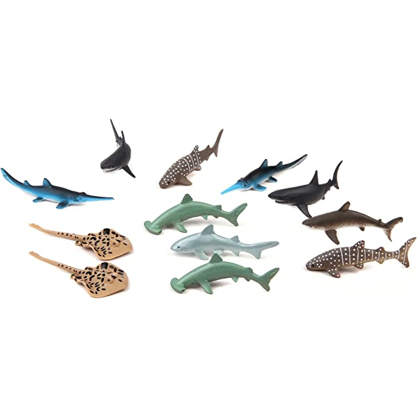 Fun Central AZ918 2 Packs of 12 Pieces 1.5 Inch Tropical Fish Figure Play Set Assorted Plastic Fish Toys Sea Animals Toys for Kids SG/_B01KN0L3O8/_US