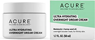 product image for ACURE Ultra Hydrating Overnight Dream Cream | 100% Vegan | Intense Moisture For Super Thirsty Skin| Melatonin & Hemp Seed Oil | 1.7 Fl Ounce