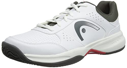 Head Mens Lazer M WHGR Tennis Shoes 273604 White/Grey/Red 9.5 UK,