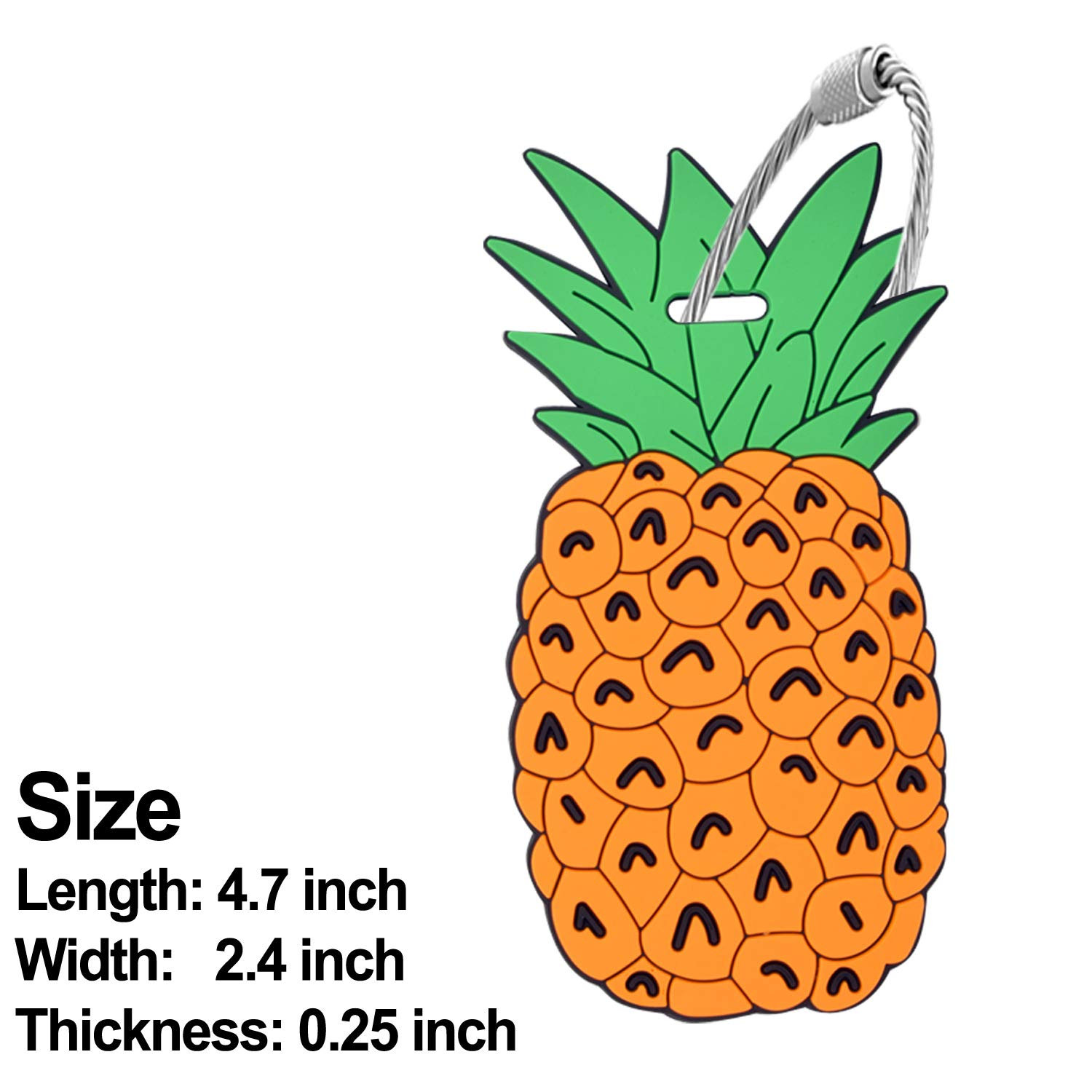 3 Pack Travel Pineapple Ice Cream Drink Bag Identify Label Holiday Gift Ideas Unique Luggage Tag