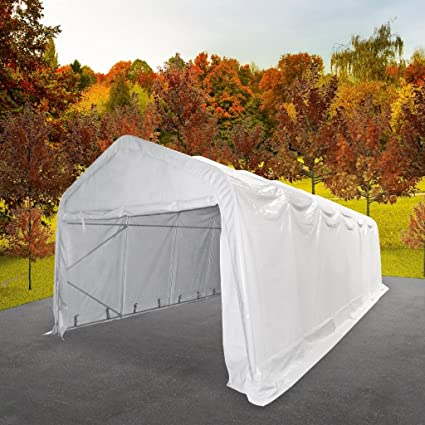 Luckyfu Cortina Toldo de PVC 6 x 12 m Bianco. Toldo Toldo Cortina Cortina Camping