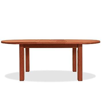 Table ovale en bois naturel mod. Tubéreuse 150/200 x 100 x 72 cm ...