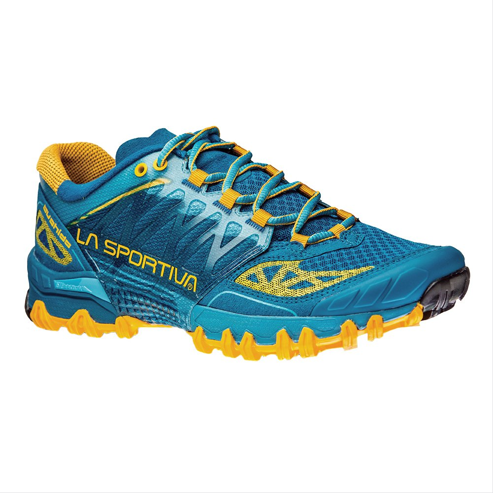 Men's Outdoor Lace-Up Trail Running Shoe Color Blue/Orange Size 39 M EU