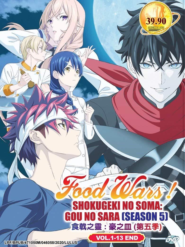 FOOD WARS! SHOKUGEKI NO SOMA : GOU NO SARA (SEASON 5) - COMPLETE ANIME TV SERIES DVD BOX SET (1-13 EPISODES)