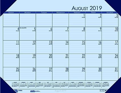 House of Doolittle 2019-2020 Academic Desk Pad Calendar, EcoTones, Blue,  18 5 x 13 Inches, August - July (HOD012540-20)