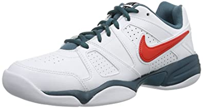 new arrival 0b535 21d06 Nike Mens City Court VII Indoor Tennis Shoes multi-coloured Mehrfarbig  (White Black