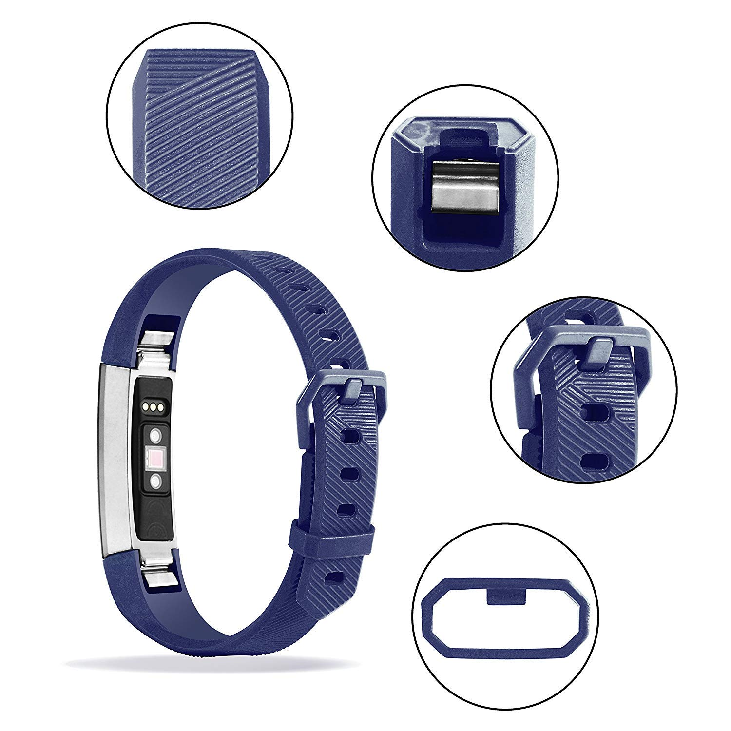 Adjustable Soft Silicone Sports Replacement Accessories Bands for Fitbit Alta HR//Fitbit Alta TreasureMax for Fitbit Alta HR Bands and Fitbit Alta Bands