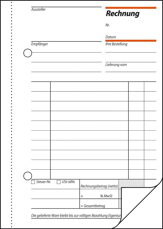 Sigel Re62510 Rechnungen A6 2x50 Blatt 10er Pack Amazonde