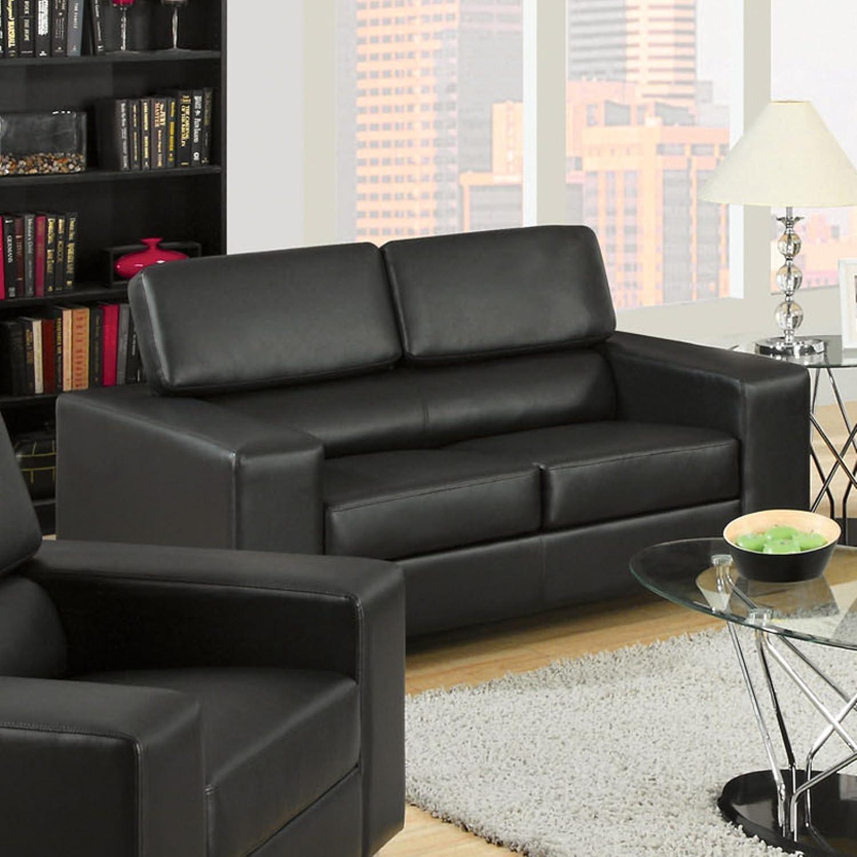 Amazon.com: Muebles de América Bloomsbury Asiento de piel de ...