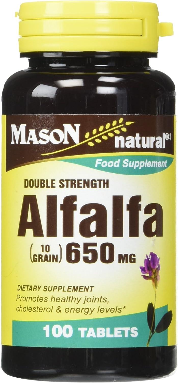 Mason Vitamins Alfalfa 650 mg Tablets, 60 Count