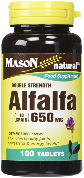 Amazon.com: Mason Vitaminas tabletas de Alfalfa 650 mg, 60 ...