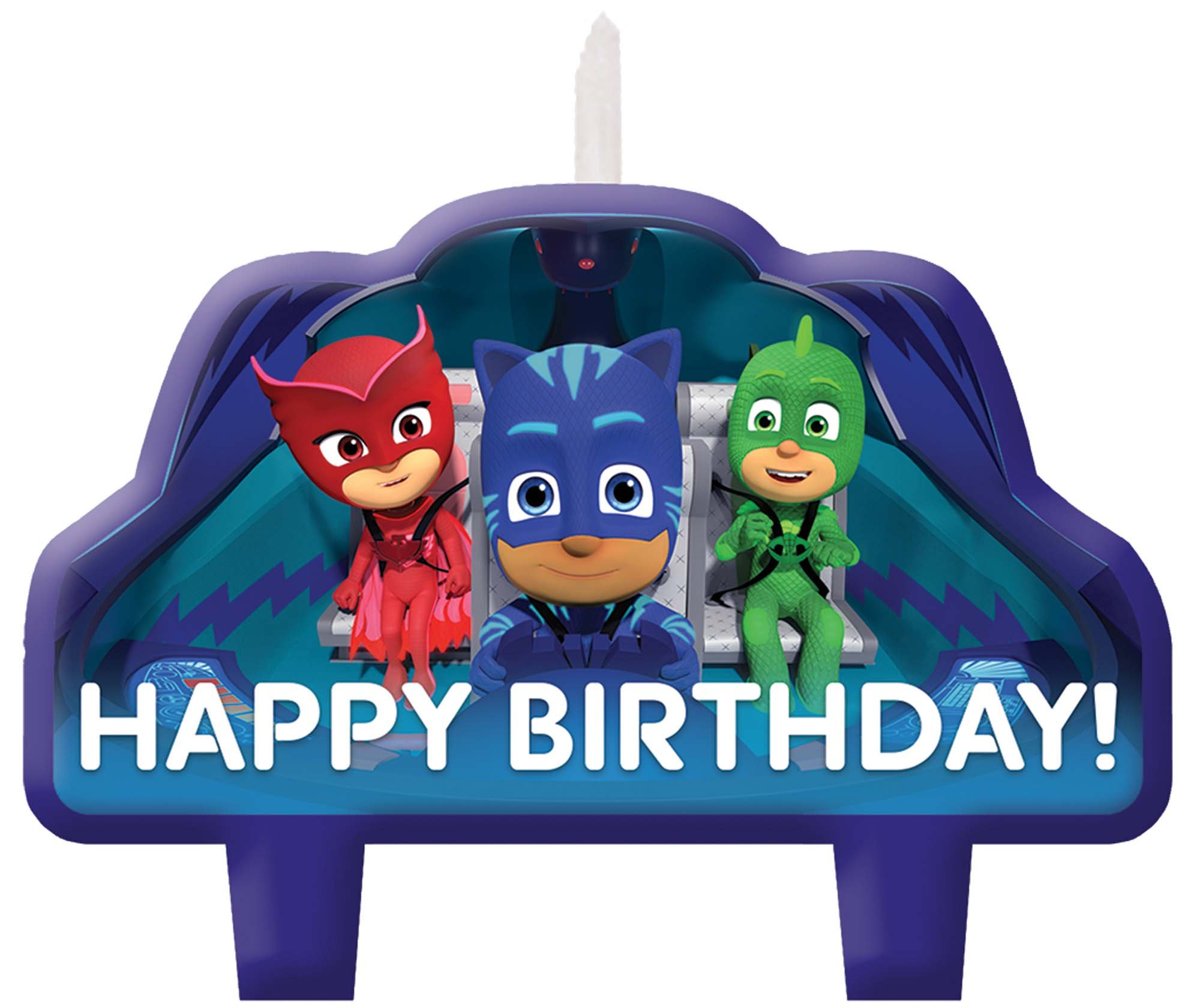 Amscan PJ Masks Birthday Candles, One Size, Blue, Red, Green