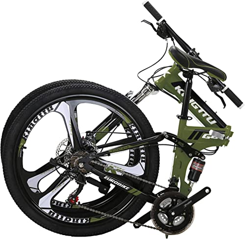 OBK G4 G6 26 Full Suspension Folding Mountain Bike 21 Speed Bicycle Men or Women MTB Foldable Frame