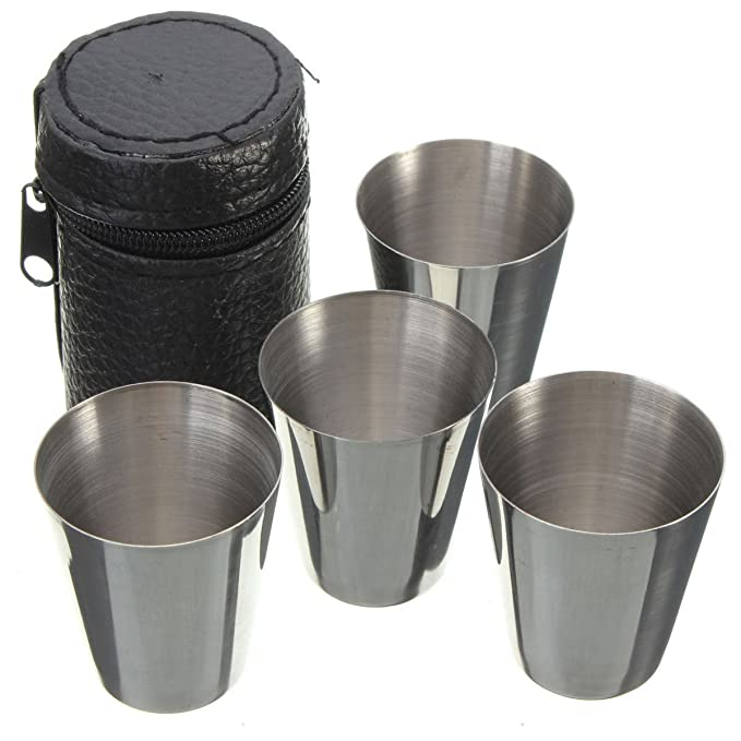 Generic YC-UK2 - 151124 - 89 < 1 & 5540 * 1 > tumblerth Cubierta PU Funda Café - Juego de 4 Tazas de Cerveza Taza de té Acero Inoxidable con sintética ...