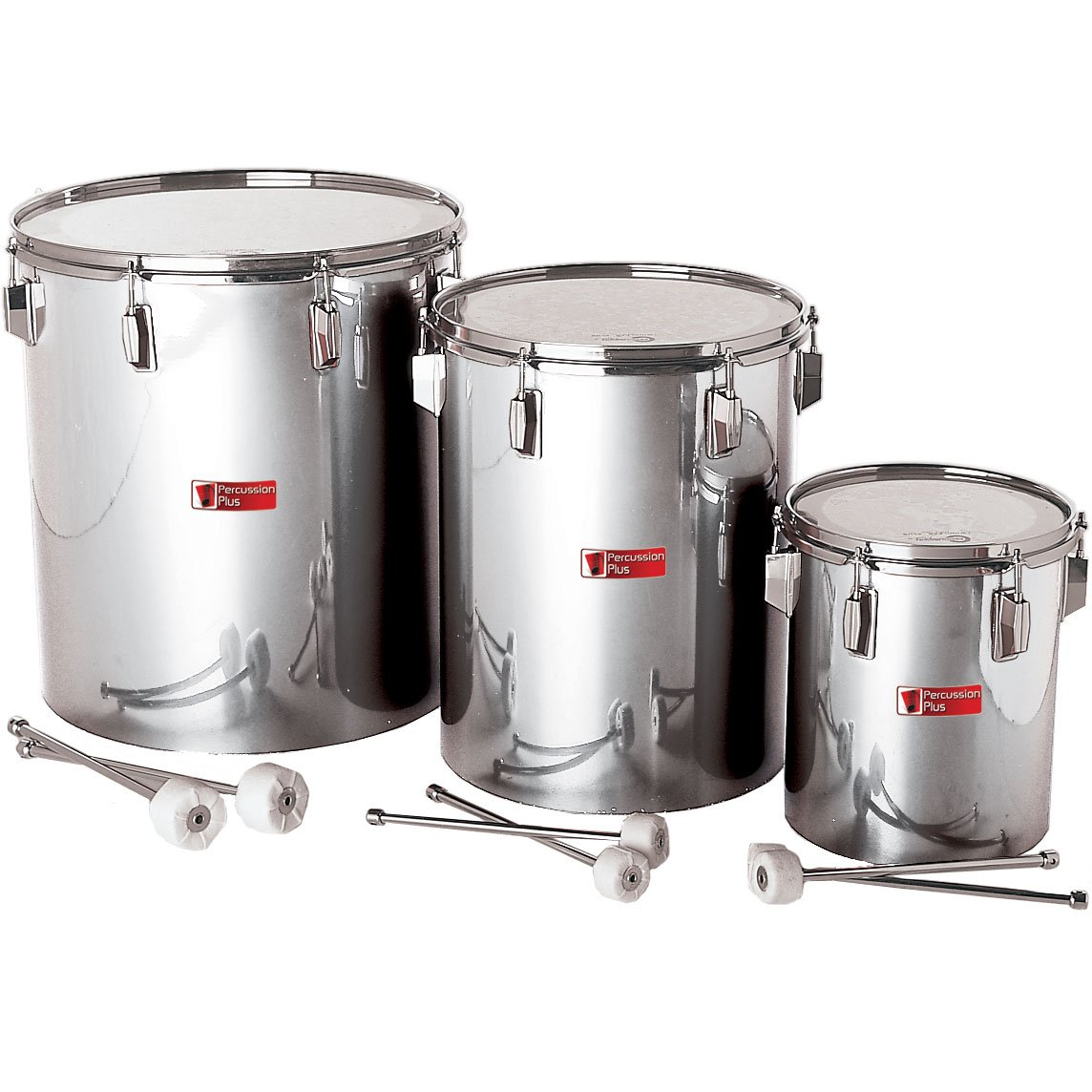 Percussion Plus PP780 Samba Drums in Silver Matt Finish (Set of 3)