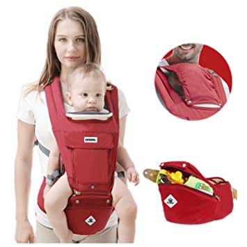 57c9e8e66b80 360 Ergonomic Baby Carrier Adjustable Backpack with Hip Seat, 12 Positions  All Seasons Summer, Baby...