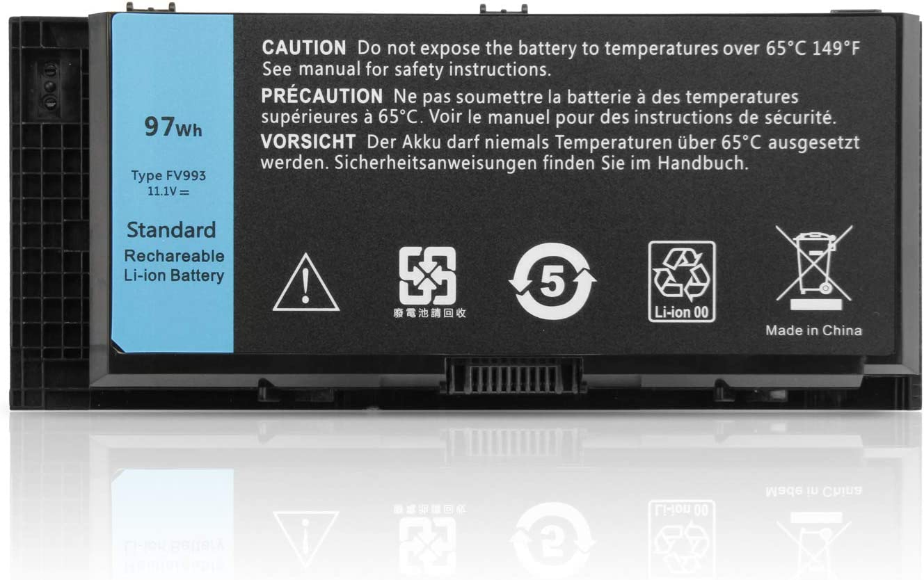 SUNNEAR FV993 97Wh 11.1V Laptop Battery Replacement for Dell Precision M4600 M4700 M4800 M6600 M6700 M6800 Series Notebook FJJ4W KJ321 R7PND PG6RC