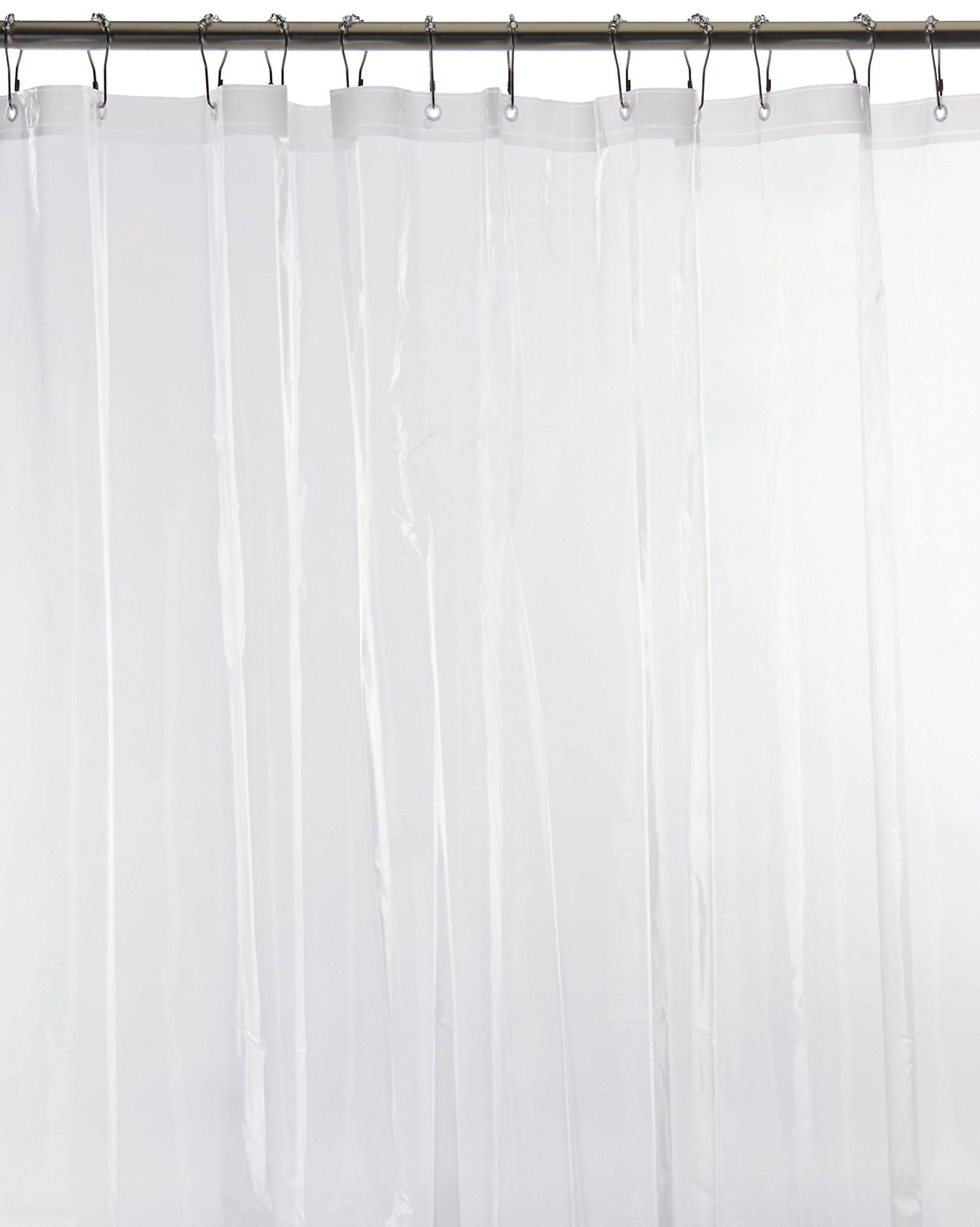 Carnation Home Fashions Stall Heavy Gauge Vinyl Shower Curtain Liner, 54-Inch by 78-Inch, Super Clear