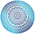 Popular Handicrafts Round Roundie Yoga Mat Indian Mandala Round Roundie Beach Throw Tapestry Hippy Boho Gypsy Cotton Table Cover Beach Towel , Beach Towel Throw , Round Yoga Mat 60""