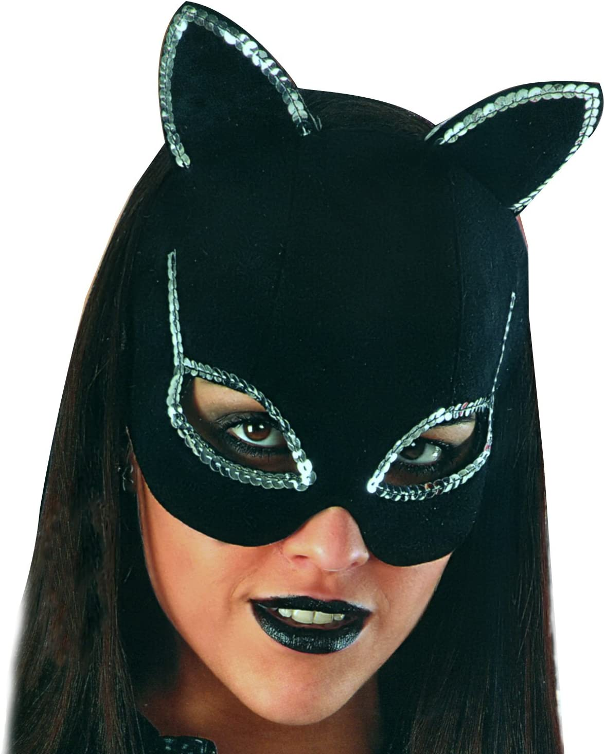 MASCHERA CATWOMAN Donna Gatta Adulto Mask Carnevale Travestimento Batman