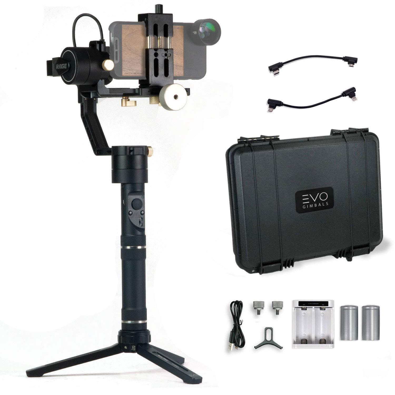 EVO Rage Gen2 スマートフォン用ジンバル ミラーレス&デジタル一眼レフカメラ用 | バンドル内容:EVO Rage Gen2 + EVO スマートフォンアダプター   B07NLNMHKF