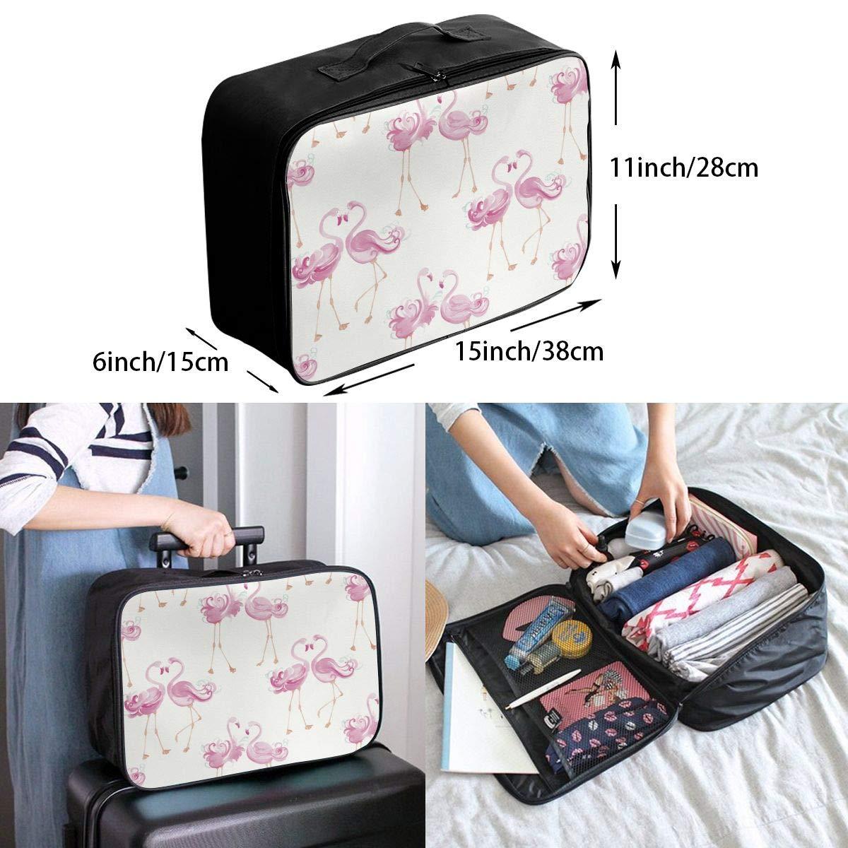 Travel Luggage Duffle Bag Lightweight Portable Handbag Flamingo Print Large Capacity Waterproof Foldable Storage Tote