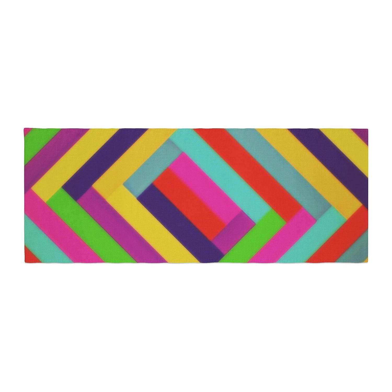 Kess InHouse Trebam Nakriv Rainbow Abstract Bed Runner
