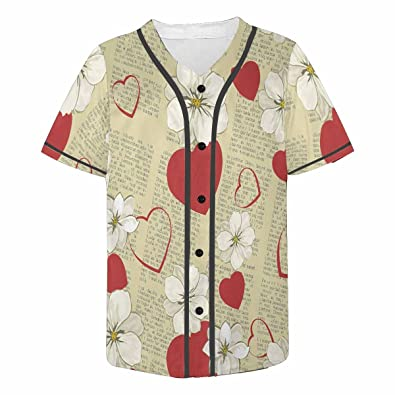 f3b2667492c6 Amazon.com: INTERESTPRINT Men's Button Down Baseball Jersey ...