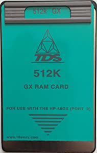 TDS 512K RAM Card for the HP 48GX