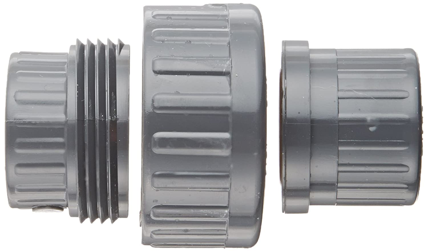 Union with Viton O-Ring Spears 858 Series PVC Pipe Fitting Schedule 80 1//2 NPT Female