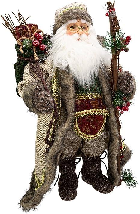 Amazon Com Kurt S Adler 18 Kringle Klaus Forest Santa Figure Home Kitchen