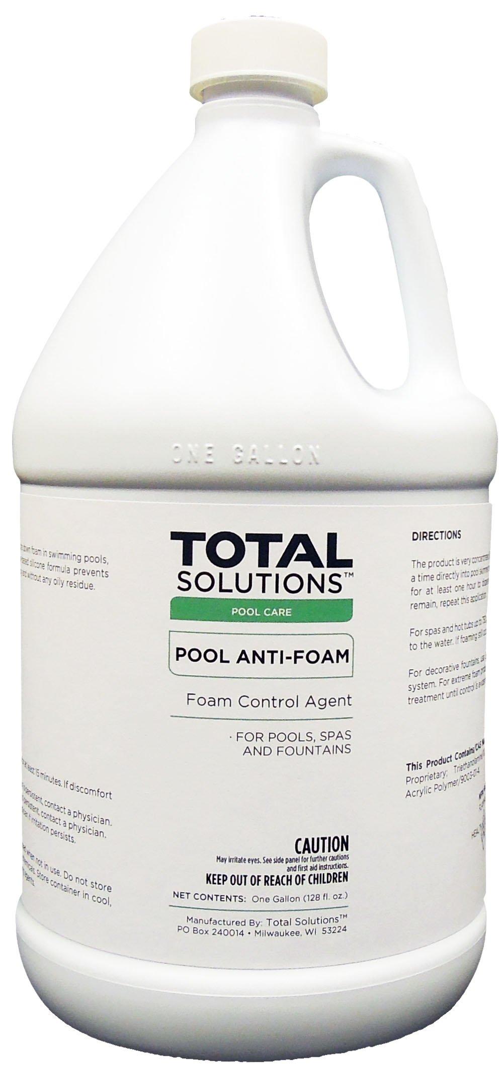 Pool Anti-Foam, Eliminates foam in pools, spas & fountains- 4 Gallons