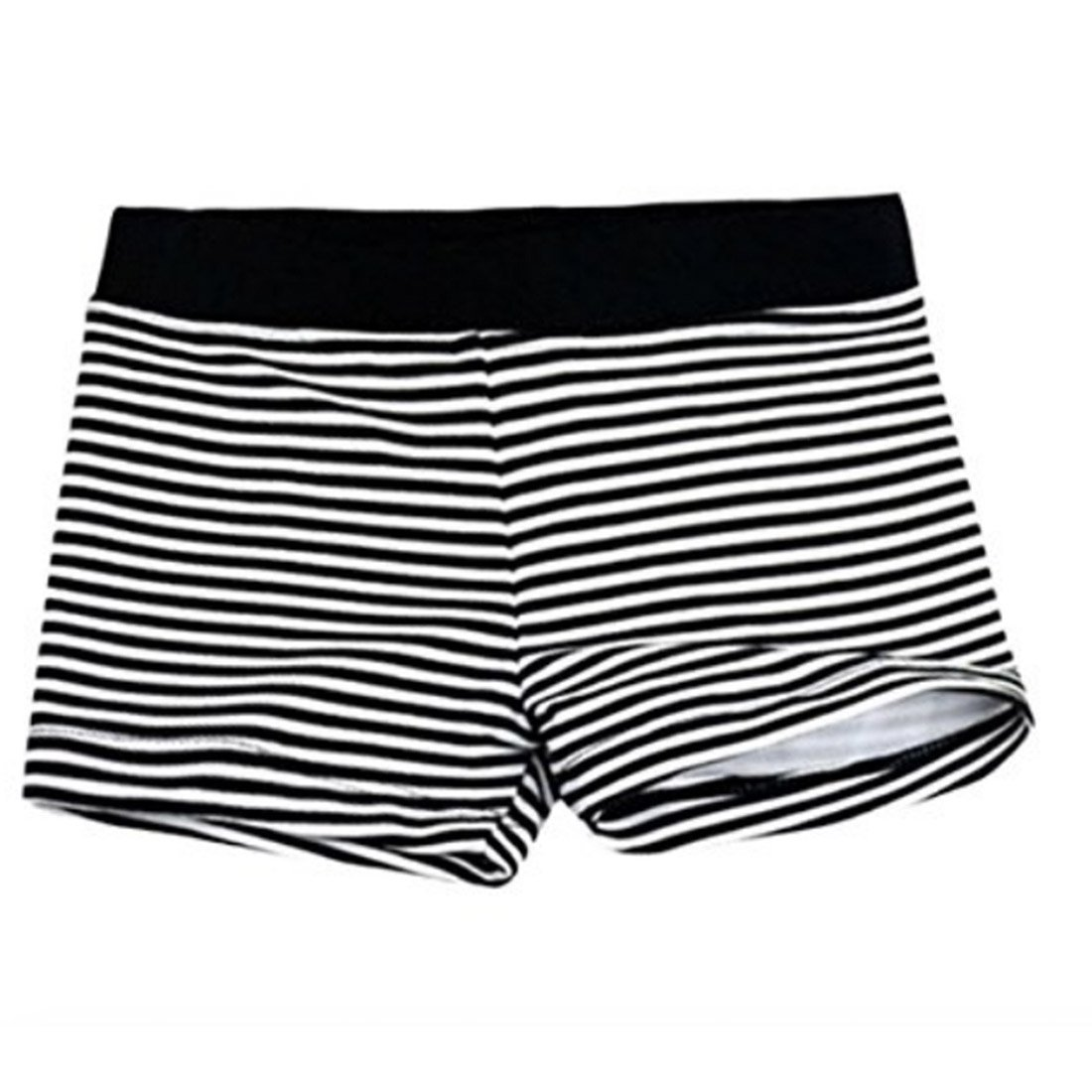 Neal LINK Kids Boys Swimming Trunks Swim Boxer Shorts Beach Bathing Suit Underpants Stripe (Stripe Black, Medium 2-3 Years)