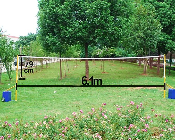 Professional 20'Standard Training Badminton Net Outdoor Garden Sport 6mx0.79m UK