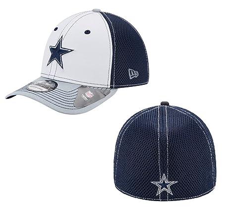 d9dc741c7e09c Amazon.com   New Era Dallas Cowboys White Front Neo 39Thirty Cap   Sports    Outdoors