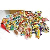 "Assorted Japanese Junk Food Snack ""Dagashi"" Boxful of 95 Packs of 55 Types"