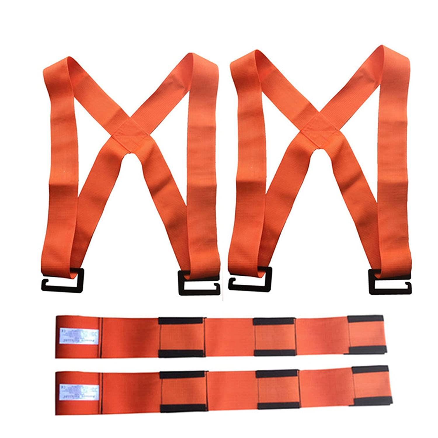 Lifting and Moving Straps, 2-Person Lifting and Moving System - Forearm Forklift Lifting Straps Furniture Moving Belt for Lifting Bulky Items Magic Show