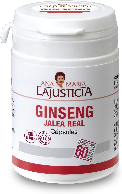Ginseng con jalea real – 60 cápsulas. Reduce el cansancio y la fatiga, refuerza el sistema inmunitario.