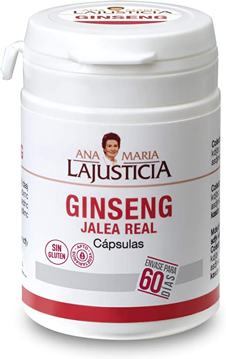 Ana Maria Lajusticia - Ginseng con jalea real – 60 cápsulas reduce ...