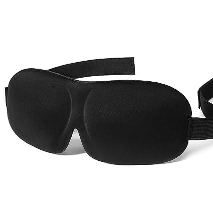 Antifaz seda mycarbon Sleep Mask Eye Cover 100% Seda Pura Correa Ajustable para dormir Viaje