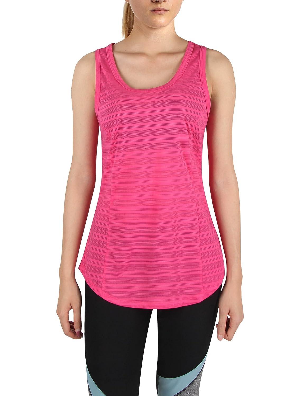 Dimildm Women's Activewear Yoga Tank Tops Sleeveless Quick Dry Cute Workout Running Shirt